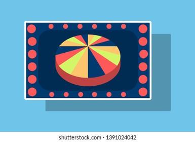 Slot machine icon isolated on background. Sticker illustration.
