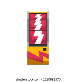 Slot machine with jackpot vector Illustration on a white background