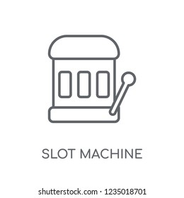 Slot machine linear icon. Modern outline Slot machine logo concept on white background from Entertainment and Arcade collection. Suitable for use on web apps, mobile apps and print media.