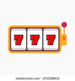 Slot machine with lucky sevens jackpot. Lucky seven 777 slot machine.