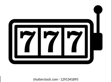 Slot Machine Slots 777 Handle Flat Stock Vector (Royalty Free) 1291341895