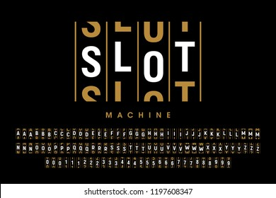 Slot machine number font