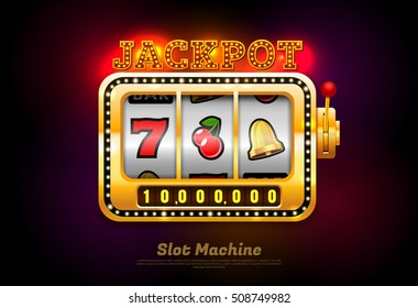 slot machine and symbol.Vector illustration