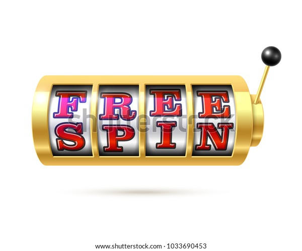 Slot Machine Text Free Spin Vector Stock Vector (Royalty
