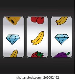 slot machine,diamonds and bananas