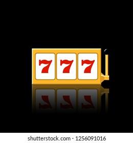 Slot reels icon vector illustration