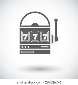 Slot. Single flat icon on white background. Vector illustration.