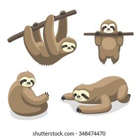 Sloth Cartoon Vector Illustration 1