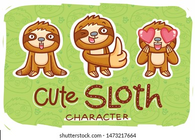 sloth character emotions madly love 260nw