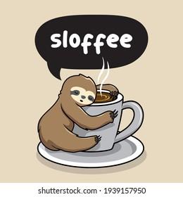 Sloth Sleep at Cup of Coffee Sloffee