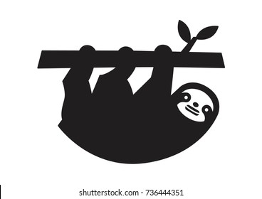 sloth vector icon logo