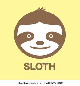 sloth vector, Sloth illustration