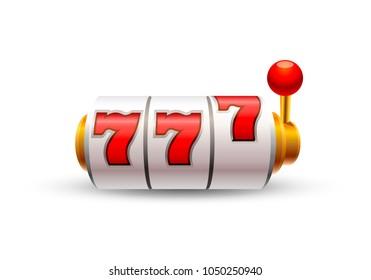 Slots 777 casino jackpot, modern gold. Vector illustration