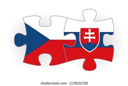 Slovak republic and Czech republic puzzle