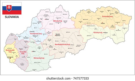 Slovak Map Images Stock Photos Vectors Shutterstock