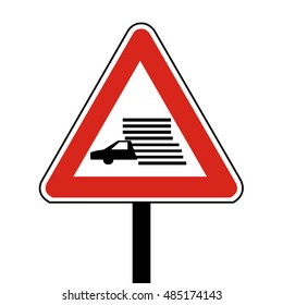 Slovakia Caution Fog Likely Road Sign