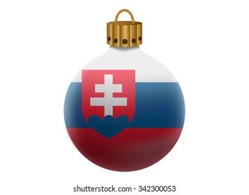 slovakia christmas ball isolated