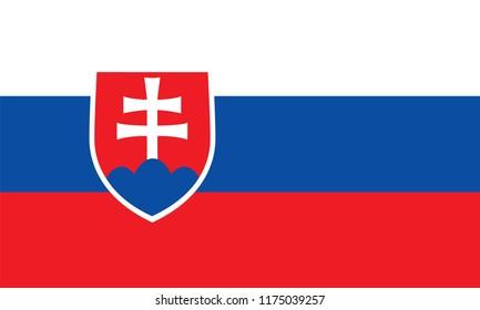 Slovakia Flag, Vector image and icon