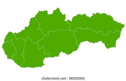 slovakia green map