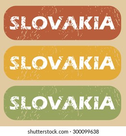 Slovakia on colored background