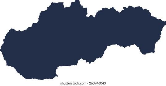 Slovakia Vector map. High detailed.