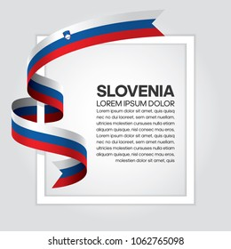 Slovenia flag background