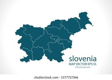 slovenia map High Detailed on white background. Abstract design vector illustration eps 10