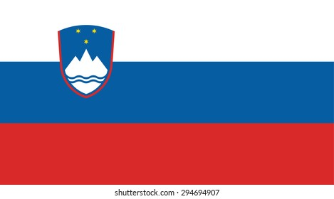 Slovenia national flag. Vector EPS8