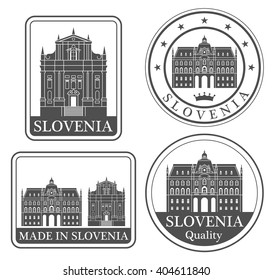 Slovenia. Rubber and stamp