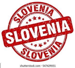 Slovenia. stamp. red round grunge vintage Slovenia sign