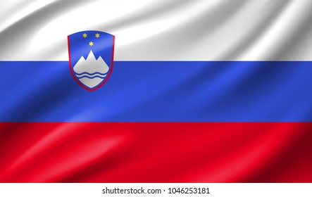 Slovenija Flag in Vector Illustration