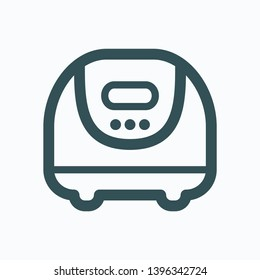 Slow cooker isolated icon, multifunction electric cooker outline vector icon