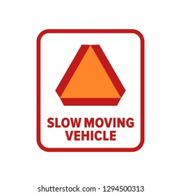 Slow Moving Vehicle symbol