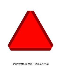 Slow moving vehicle symbol. Red triangle. Traffic sign. Perfect for backgrounds, backdrop, sticker, sign, symbol, label, poster, banner, notice etc.