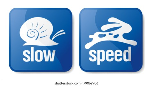 Slow and speed download buttons.