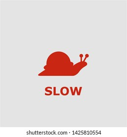 Slow symbol. Outline slow icon. Slow vector illustration for graphic art.