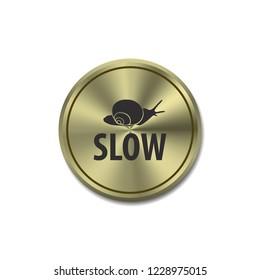 Slow vector button, web design element