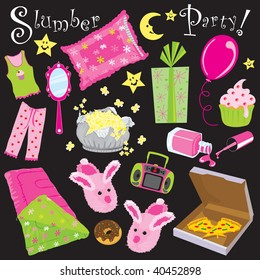 Slumber birthday Party Invitation Clipart