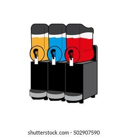 Slush Machine icon, vector illustration.