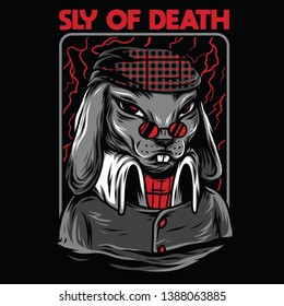 Sly of Death Red Mafia Illustration