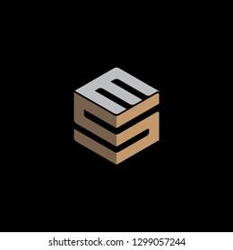 SM Initial Logo Vector