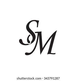 SM initial monogram logo