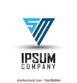 SM Letter Logo