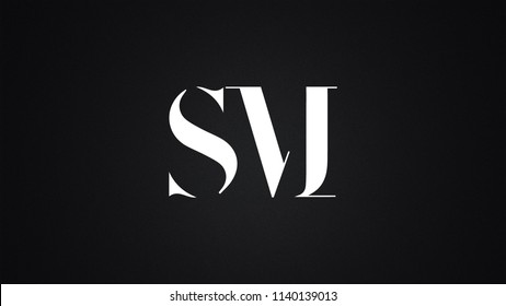 SM Letter Logo Design Template Vector