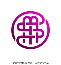 SM Letter Logo Design Template