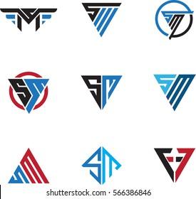 SM Letter Logo set