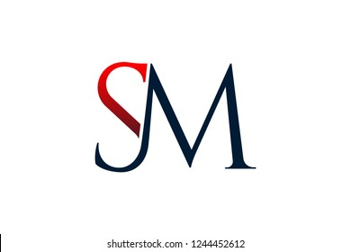 Sm letters logo design. Luxury and professional logo design for personal and company uses. logo, ms, letter, sm, design, background, illustration, initial, abstract, vector, business, symbol, modern,