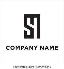 Sm Logo Vector Your Business Stock Vector