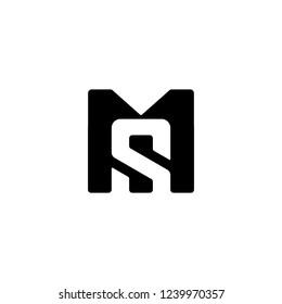 sm or ms logo concept