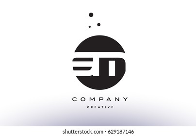 SM S M alphabet company letter logo design vector icon template simple black white circle dot dots creative abstract